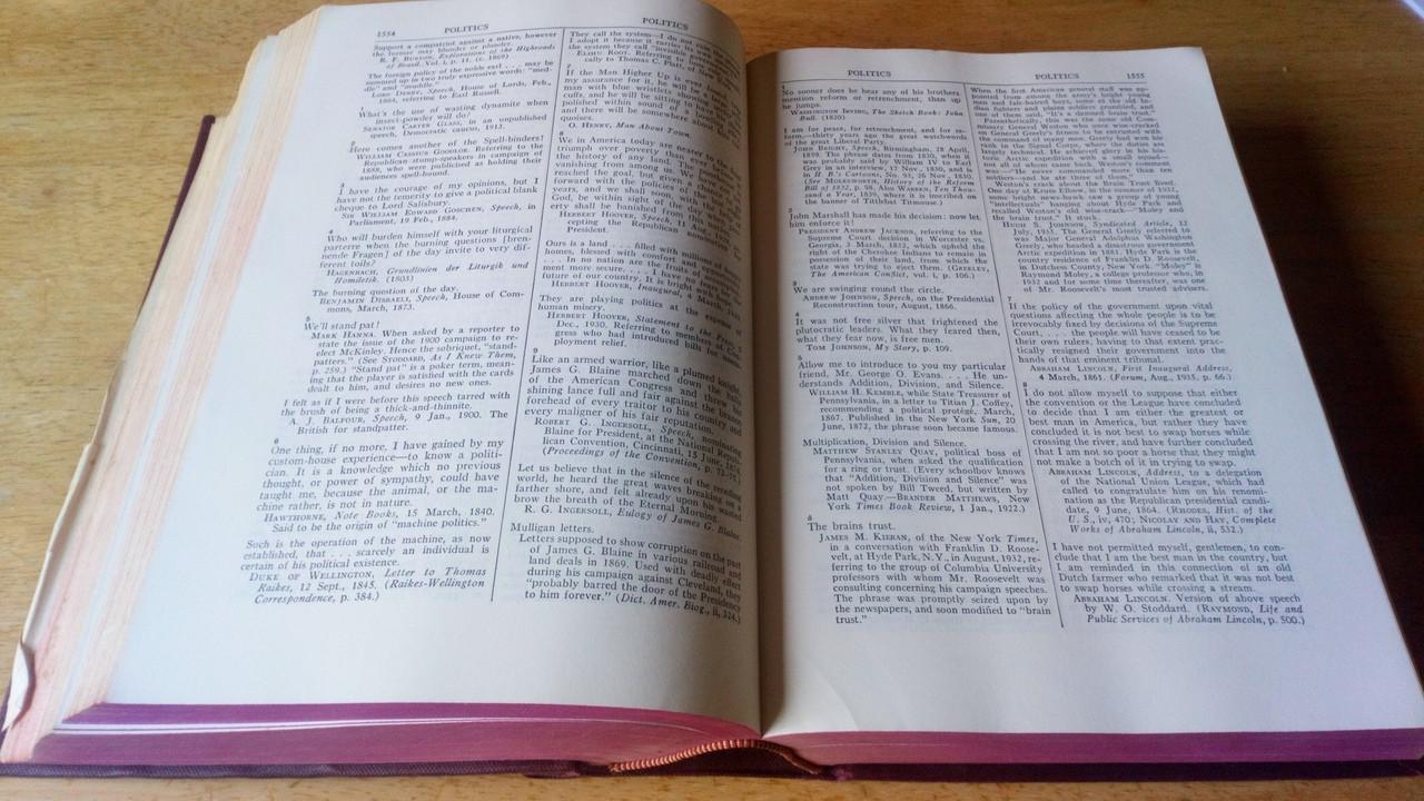 Stevenson, Burton - Stevenson's Book of Quotations : Classical and Modern HB Cassell USA