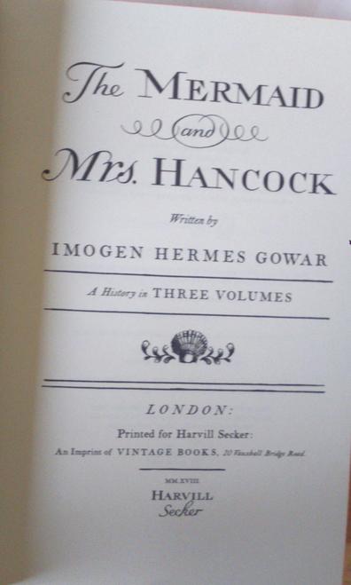 Gowar, Imogen Hermes - The Mermaid & Mrs Hancock 2018 UK Proof Copy