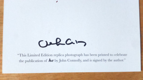 Connolly, John - SIGNED-  he - 1st Edition with  SIGNED Print Laurel & Hardy