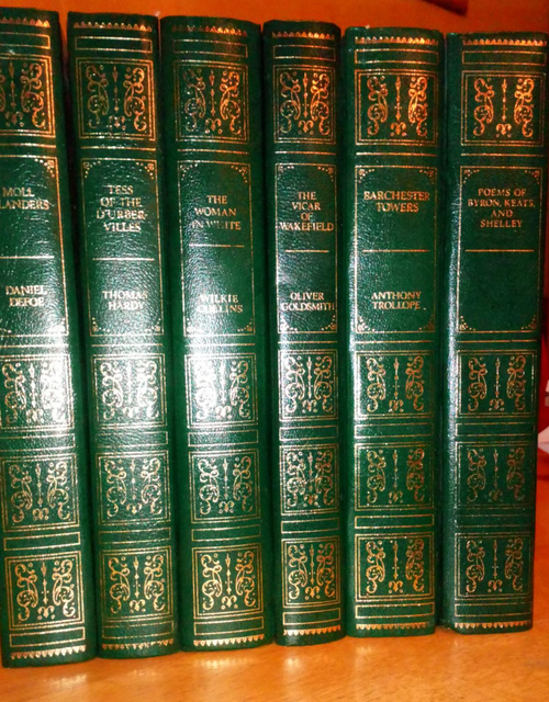 6 volume set - Guild Publishing  English Literature Classics Leather Effect Gilt  HB