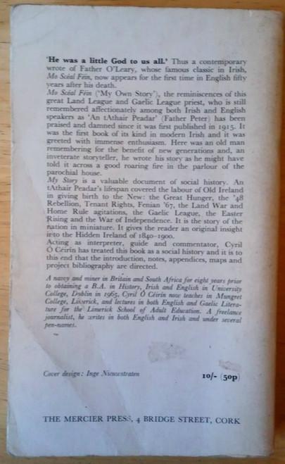 O'Leary , Peter ( Peadar ó Laoghaire) Vintage Mercier PB Cork Social History