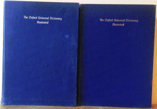 The Oxford Universal Dictionary - Illustrated (Complete 2 Book Set) 1961