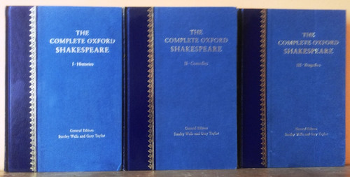 The Complete Oxford Shakespeare (3 Book Set) 1987