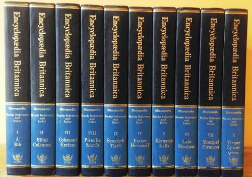 Encyclopaedia Britannica (Complete 10 Book Encyclopaedia Set)1976 Roman numerated