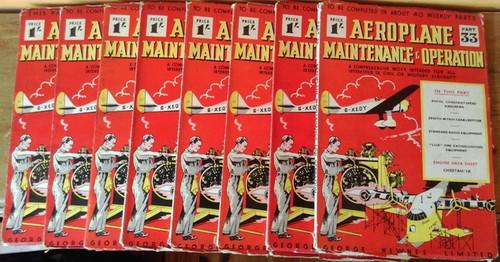 George Newnes: Aeroplane Maintenance & Operation Magazine Parts 33 - 40  (8 Book Collection)