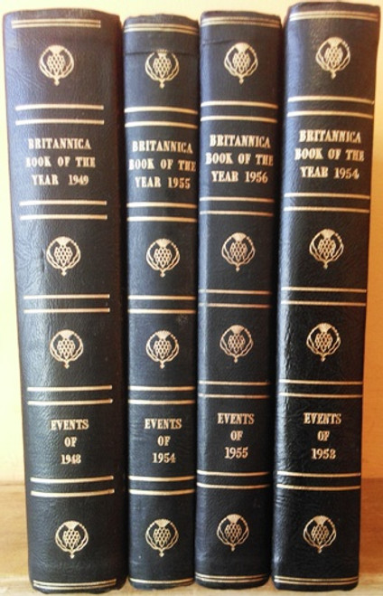 Britannica Book of the Year: 1949 1954 1955 1956 (4 Book Collection)