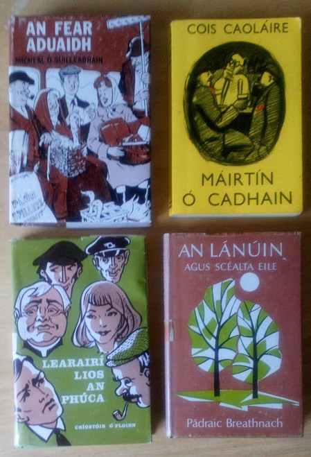 Lot of 4 Vintage As Gaeilge - Short Stories & Fiction 1960's & 1970's