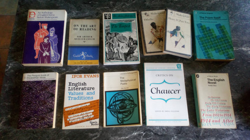 Literary Criticism - Texts & Commentary - School - English Literature - PB Vintage -11 book Lot