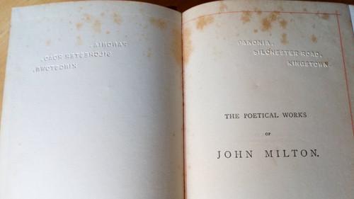 Milton, John - Poetical Works ( Collected Poems) Warne 'Lansdowne Edition, 1887 Gilt Cloth