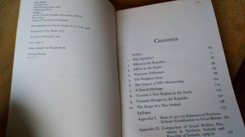 Fitzgerald, Garret - Towards a New Ireland - PB 1973 Politics & Manifesto