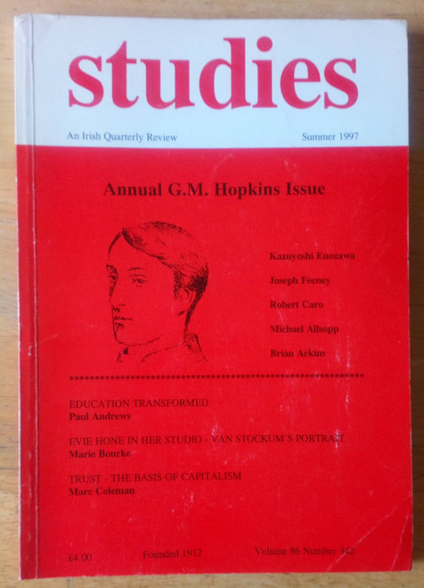 Studies - Irish Quarterly Review Summer 1997 - Gerald Manley Hopkins Issue