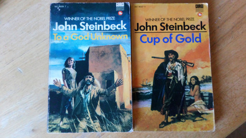 Steinbeck, John - 3 book Vintage Lot  - To a God Unknown , Cup of Gold & Sweet Thursday