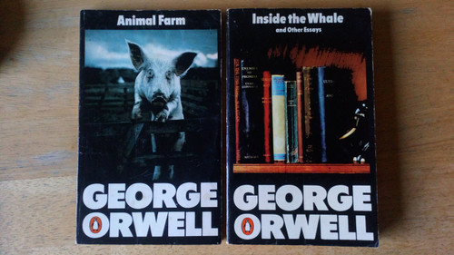 Orwell, George - 4 book Vintage Penguin PB Lot - Inside the Whale , Road to Wigan Pier,  Animal Farm & Books v Cigarettes