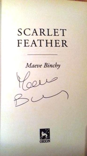 Maeve Binchy / Scarlet Feather (Large Hardback) (Signed by the Author)