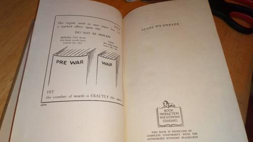 Laverty, Maura - Alone We Embark - HB Novel Ireland 1942