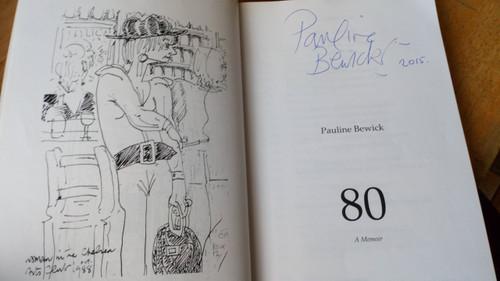 Bewick, Pauline - 80 : A Memoir SIGNED PB Autobiography 2015 Artist  Arlen House