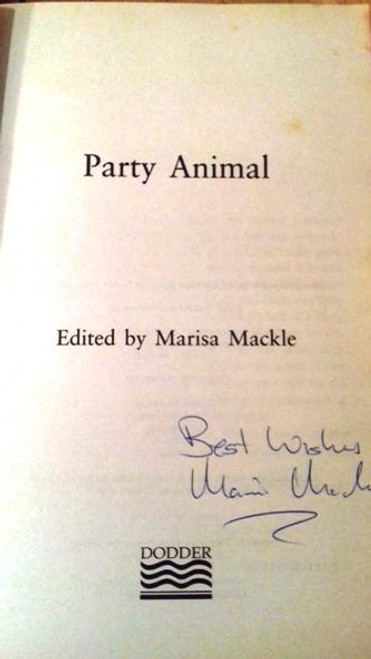 Marisa Mackle / Party Animal (Large Paperback) (Signed by the Author)