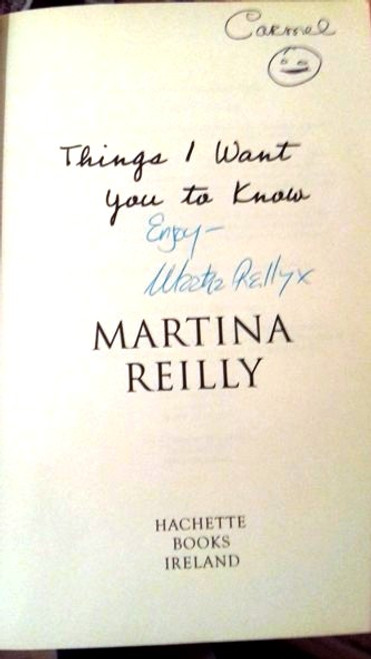Martina Reilly / Things I Want You to Know (Large Paperback) (Signed by the Author)