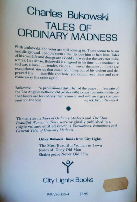 Bukowski, Charles - Tales of Ordinary Madness - Vintage PB City Lights USA Short Stories