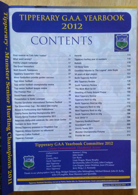 Tipperary GAA Yearbook 2012 - Blianiris PB Illustrated Gaelic Games