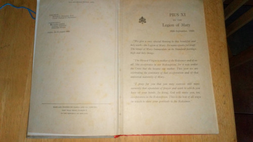 Legion of Mary handbook , 1975 Legio Mariae Catholic Religion