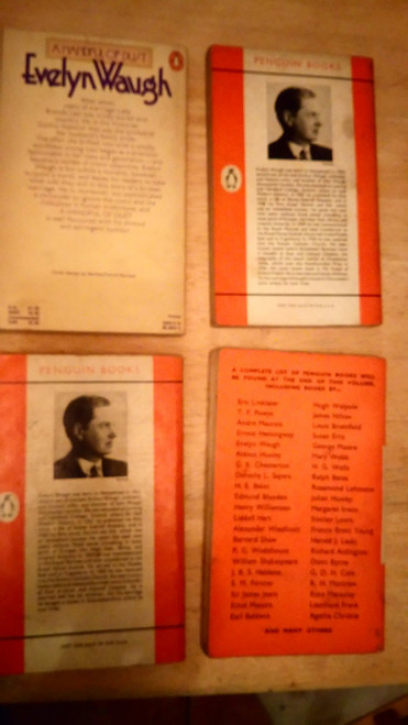 Waugh, Evelyn - Vintage 4 Book Penguin Lot - Vile Bodies, A handful of Dust, Edmund Campion, The Loved One