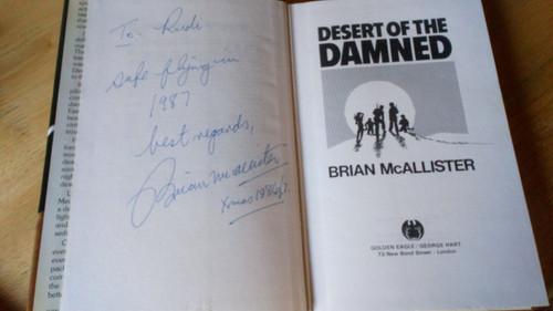 McAllister, Brian - Desert of the Damned - HB Signed 1st 1985 Thriller