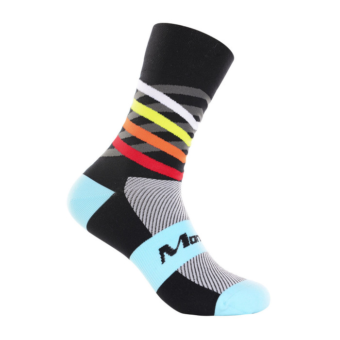 Dimensions blue/black/multi Socks