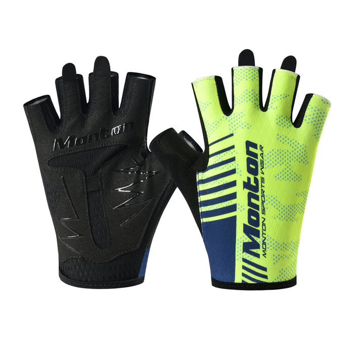 Carter Half Finger Cycling Gloves - fluorescent yellow