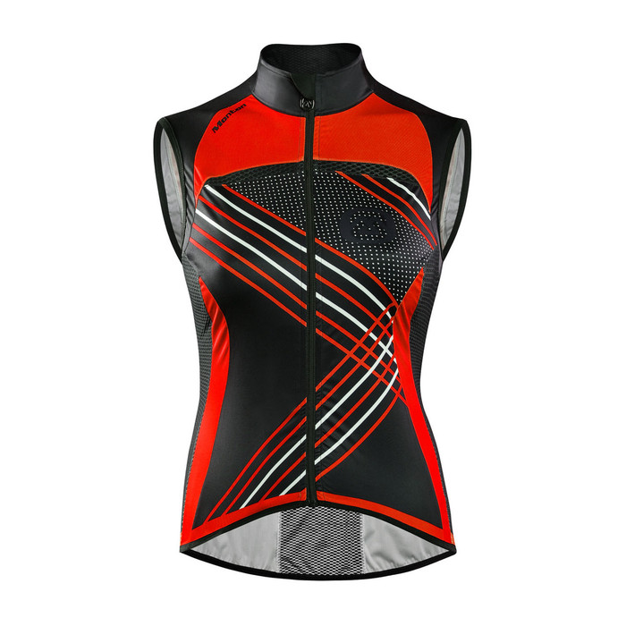Women's Antelao Red Windproof Gilet
