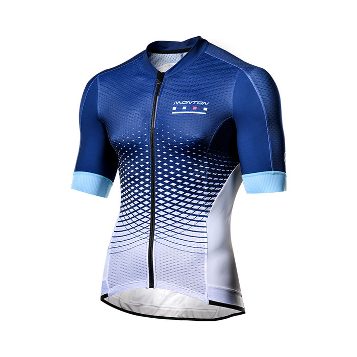 Men's 2018 Pro Geo-scale blue/white S/S Jersey