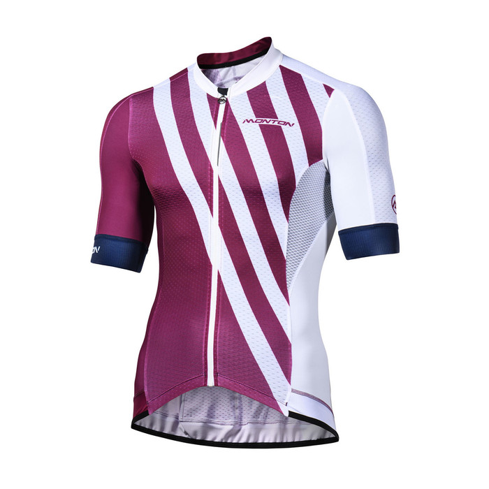 Men's 2018 Pro Split purplish red S/S Jersey