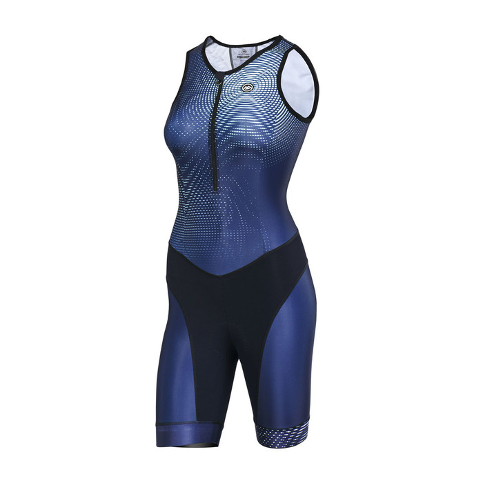 Women's 2018 Urban+ Magic blue/green sleeveless Triathlon Skinsuit