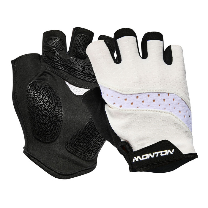 Pro 2018 Sagitar half-finger white Gloves