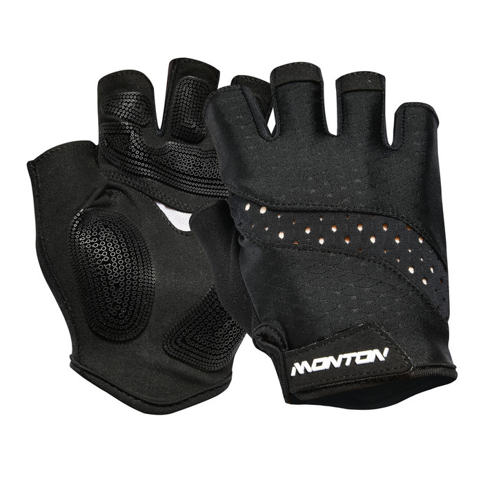 Pro 2018 Sagitar half-finger black Gloves