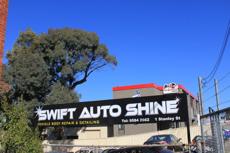 Shop Sign with digital printed reflective vinyl