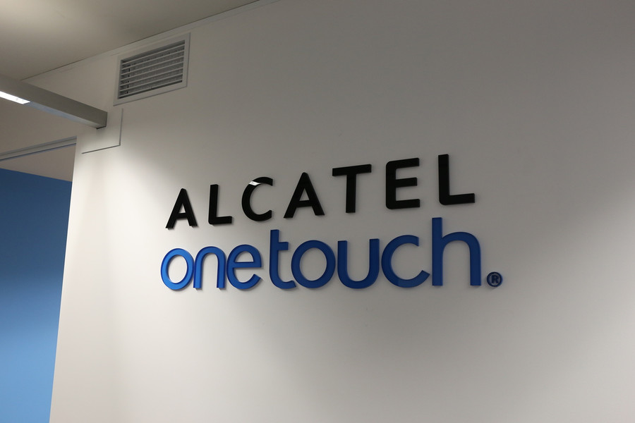 Alcatel 3D Wall Reception Sign