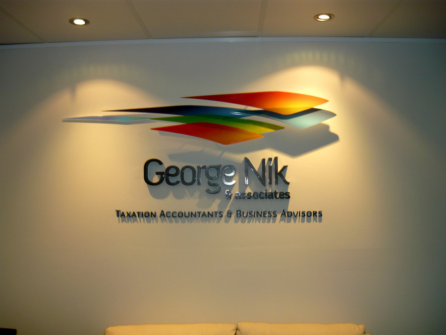 George Nik Floating 3D Reception Sign