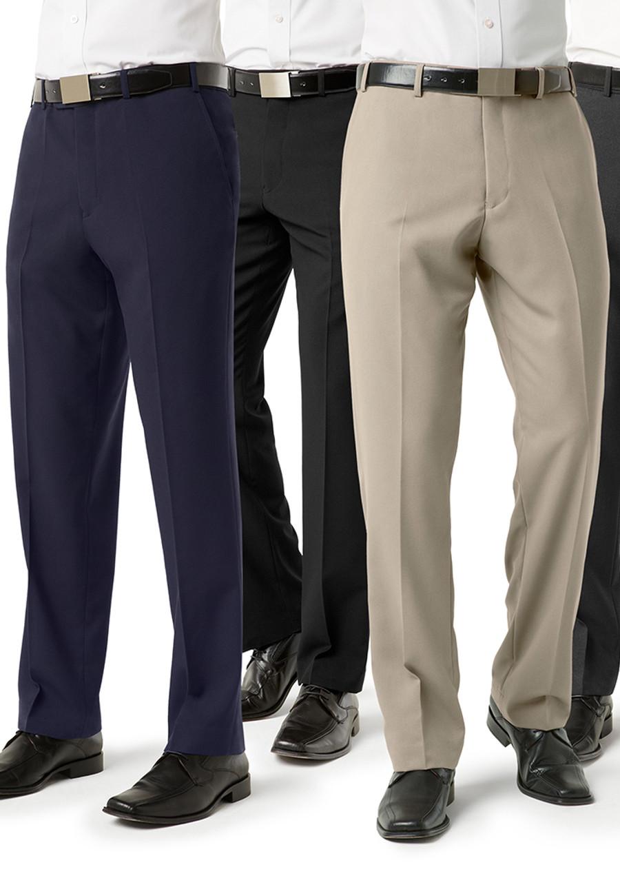 Mens Flat Front Pants