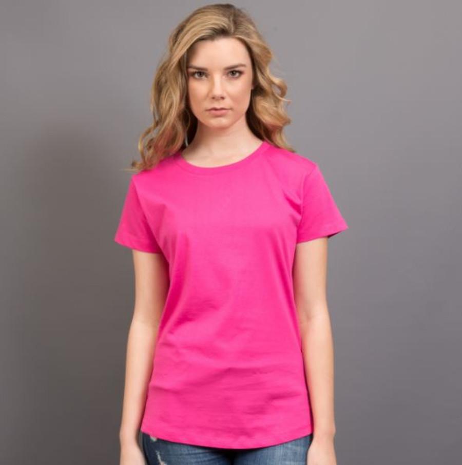 Ladies Surf T-Shirt  (Hot Pink)
