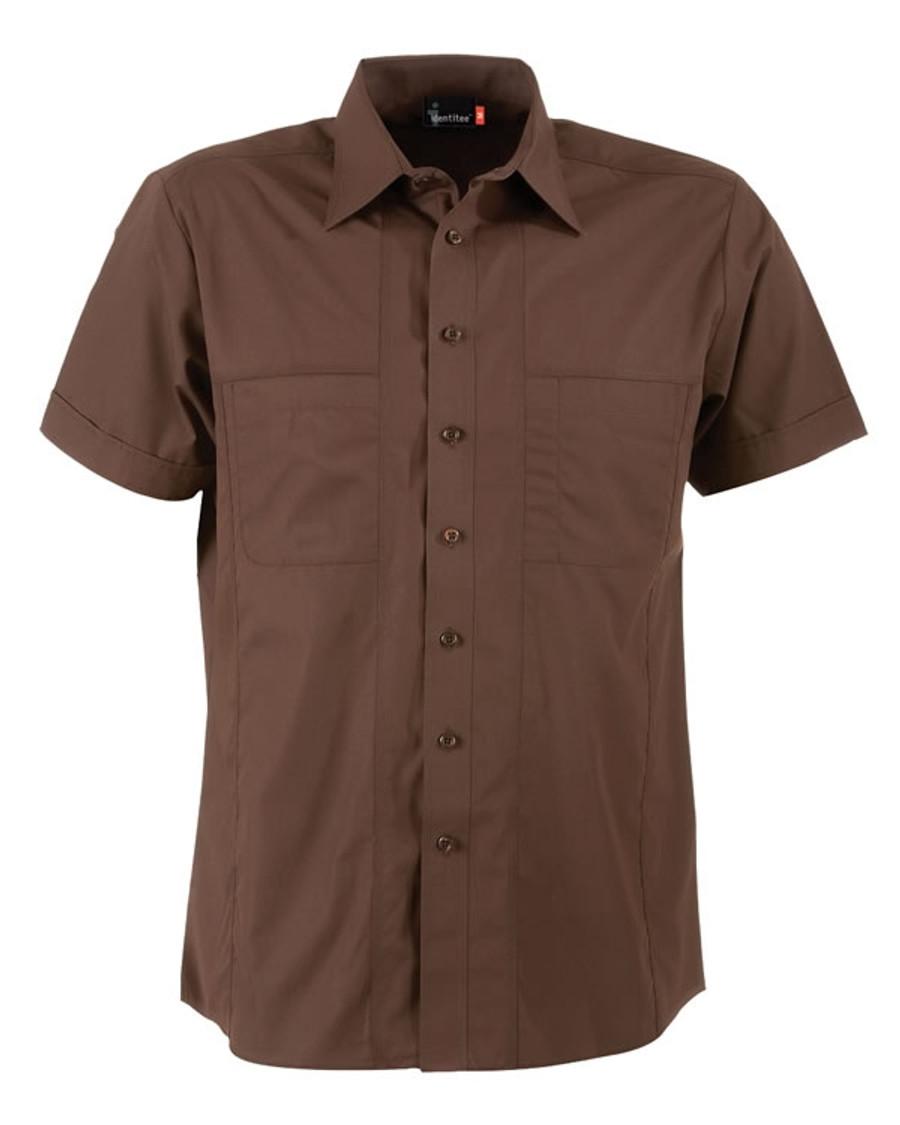 Mens Aston Business Shirt (Chocolate)