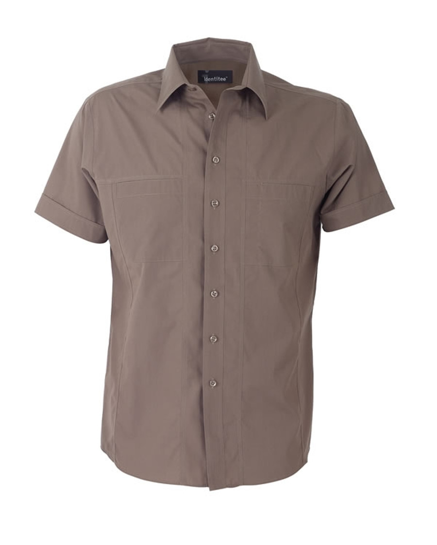 Mens Aston Business Shirt (Mocha)