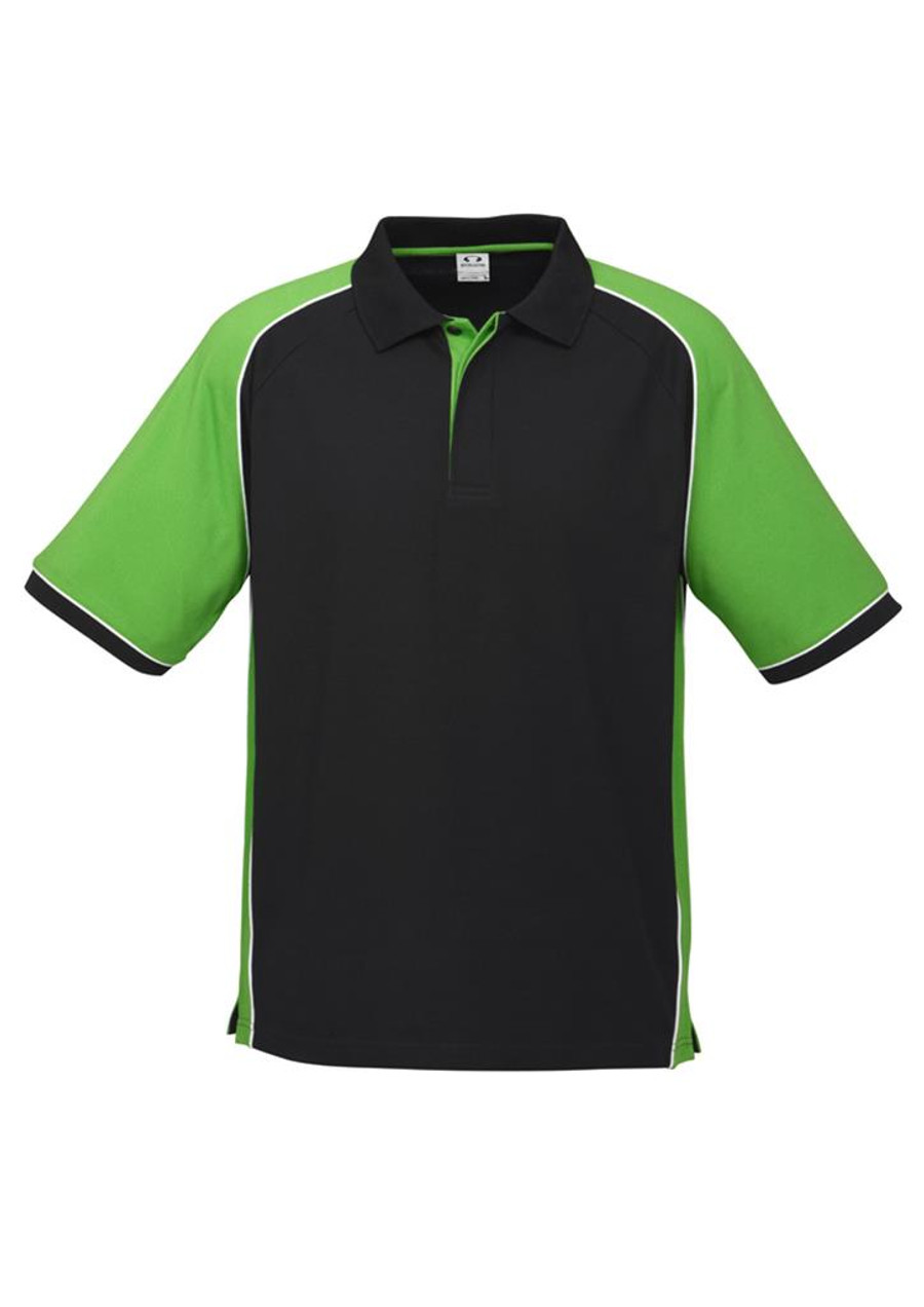 Mens Nitro Polo Shirt (Black/Green)