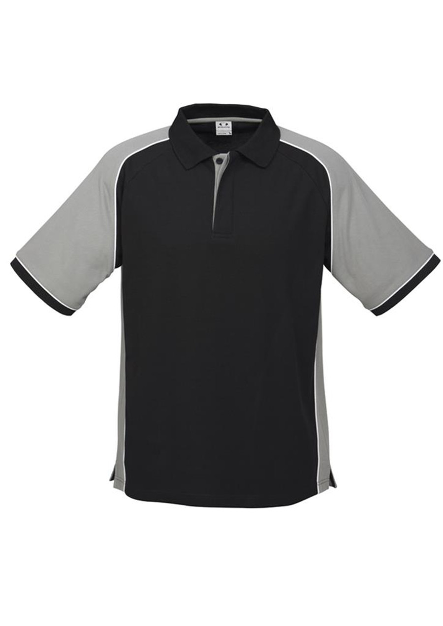 Mens Nitro Polo Shirt  (Black/Grey)
