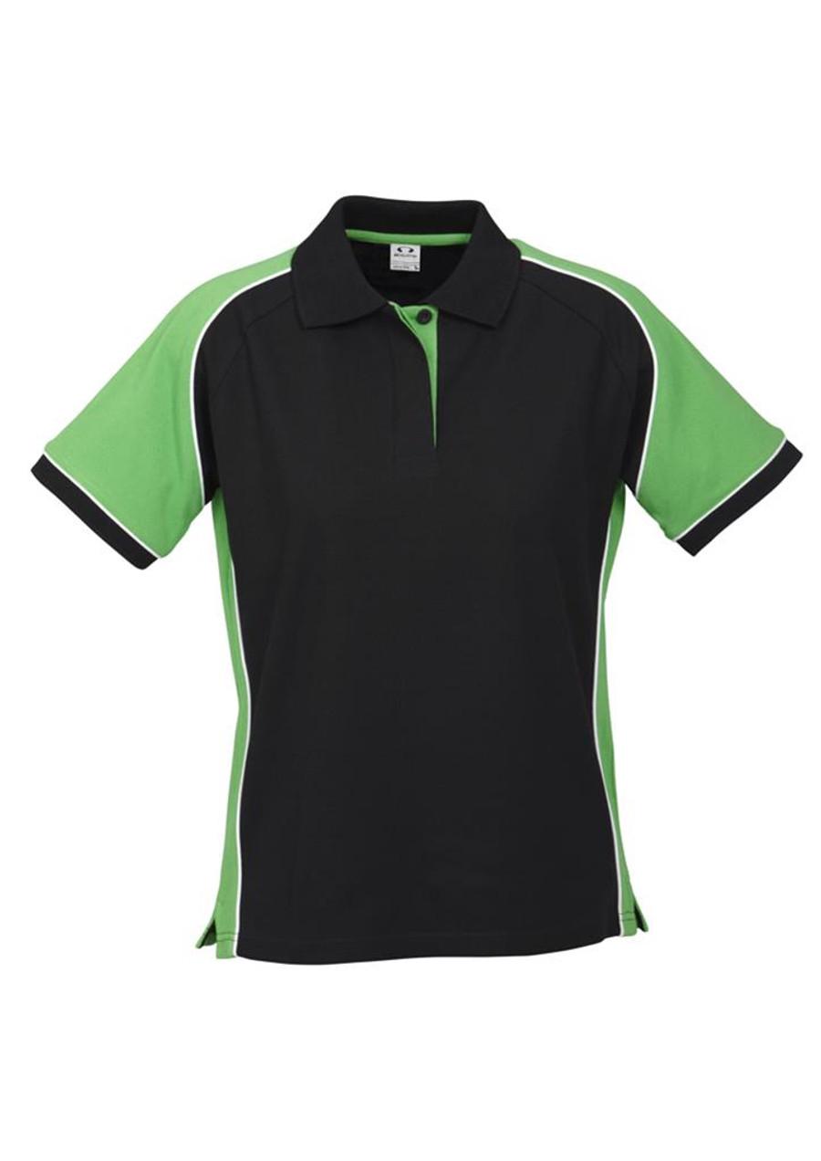 Ladies Nitro Polo (Black/Green)