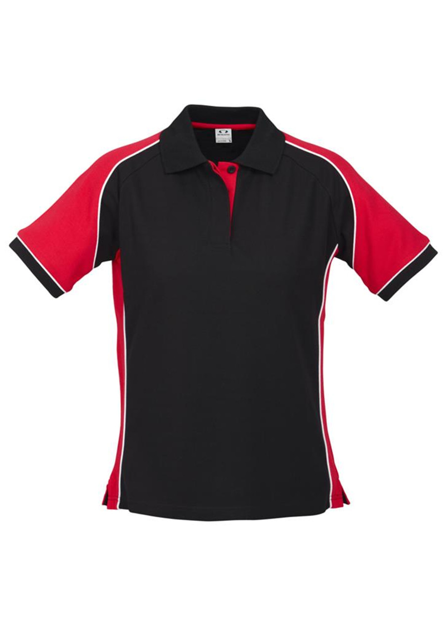 Ladies Nitro Polo (Black/Red)