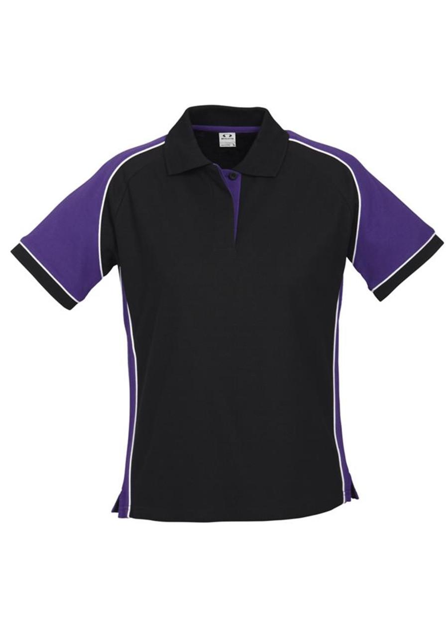 Ladies Nitro Polo (Black/Purple)