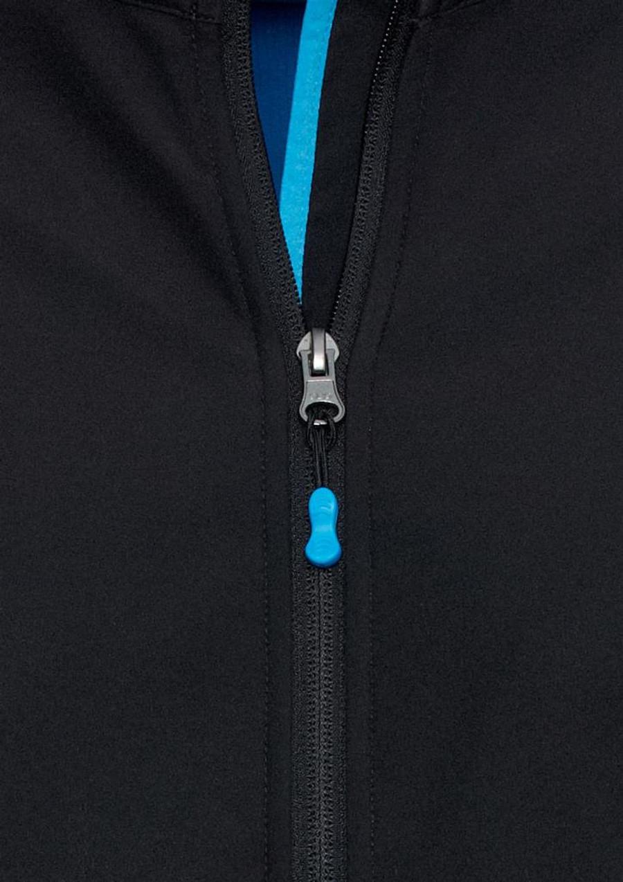 Mens Geneva Jacket (Black/Cyan)