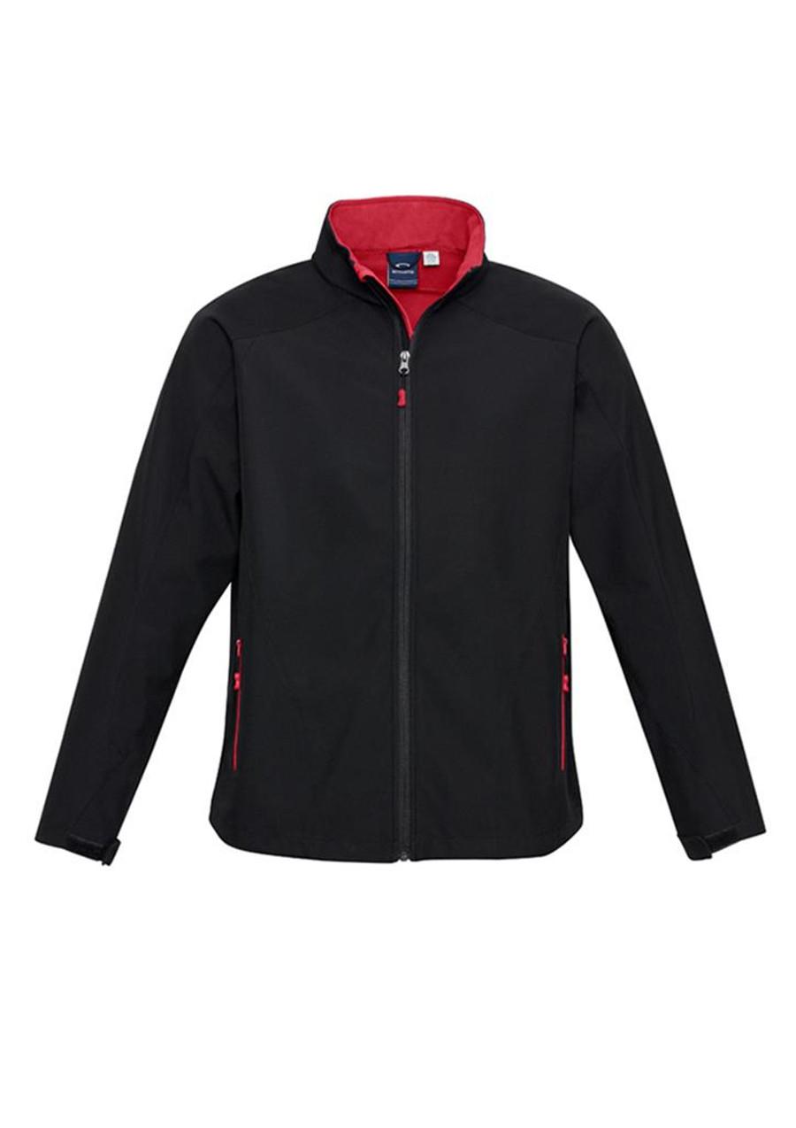 Mens Geneva Jacket (Black/Red)