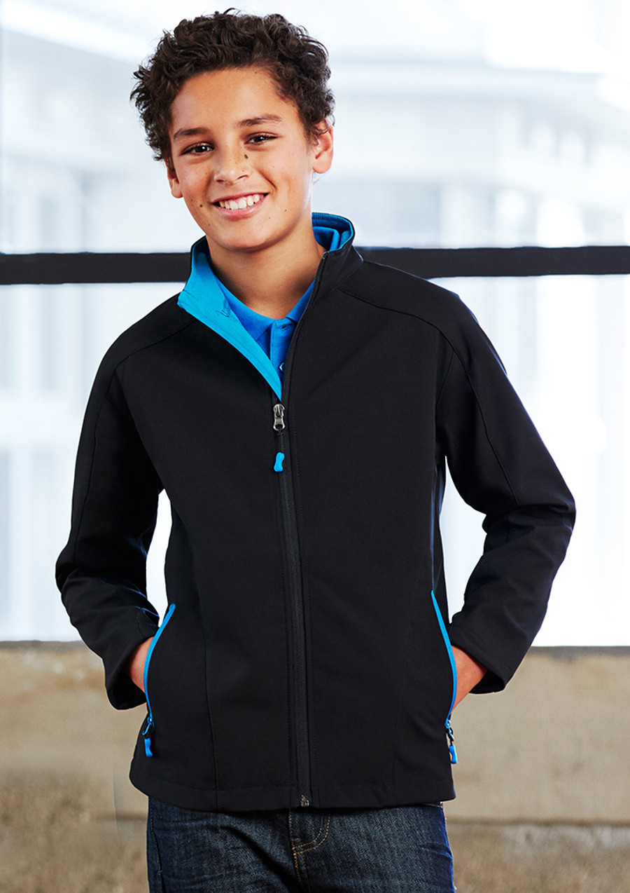 Kids Jacket Geneva (Black/Cyan)